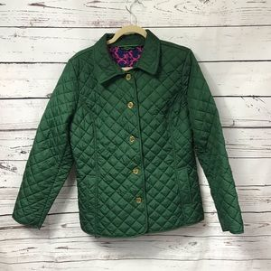 C Wonder quilted green coat